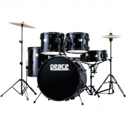 BATTERIA PEACE CELEBRITY DP-101-9 -11 BLACK BRASS CYMBALS