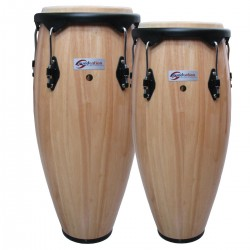 "COPPIA CONGAS SOUNDSATION  SCO10-NT 10 +11"" NATURALE  HW-BK"