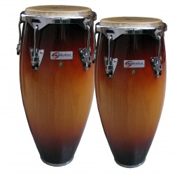 "COPPIA CONGAS SOUNDSATION SCO10-SB 10 +11"" SUNBURST HW-BK"
