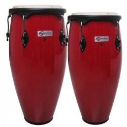 "COPPIA CONGAS SOUNDSATION  SCO10-RD 10 +11""  ROSSE  HW-BK"