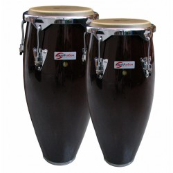 "COPPIA CONGAS SOUNDSATION SCO10-DW 10 +11"" DARK WOOD HW-BK"