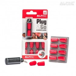 SET 10 EARPLUG ALPINE PLUG & GO CON TRAVEL BOX