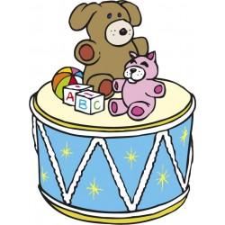STICKER SWINGTIME SERIE KIDS tamburo e giocattoli 60x45 cm DSB0008