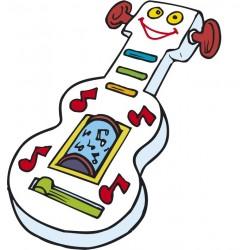 STICKER SWINGTIME SERIE KIDS chitarra giocattolo 60x51 cm DSB0010