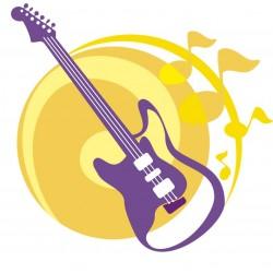 STICKER SWINGTIME SERIE KIDS chitarra stilizzata 110x115 cm DSB0016