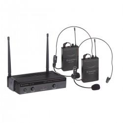 RADIOMICROFONO UHF SOUNDSATION WF-U24PP 4 CANALI 2 TX POCKET 863-865MHz