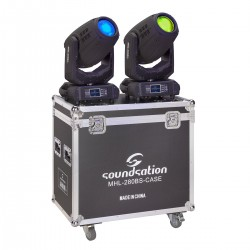 SET 2 TESTE MOBILI BEAM&SPOT SOUNDSATION MHL-280BS CON FLIGHT CASE