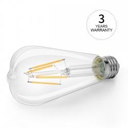 LAMPADA LED VINTAGE BIANCO CALDO WAPA 8W